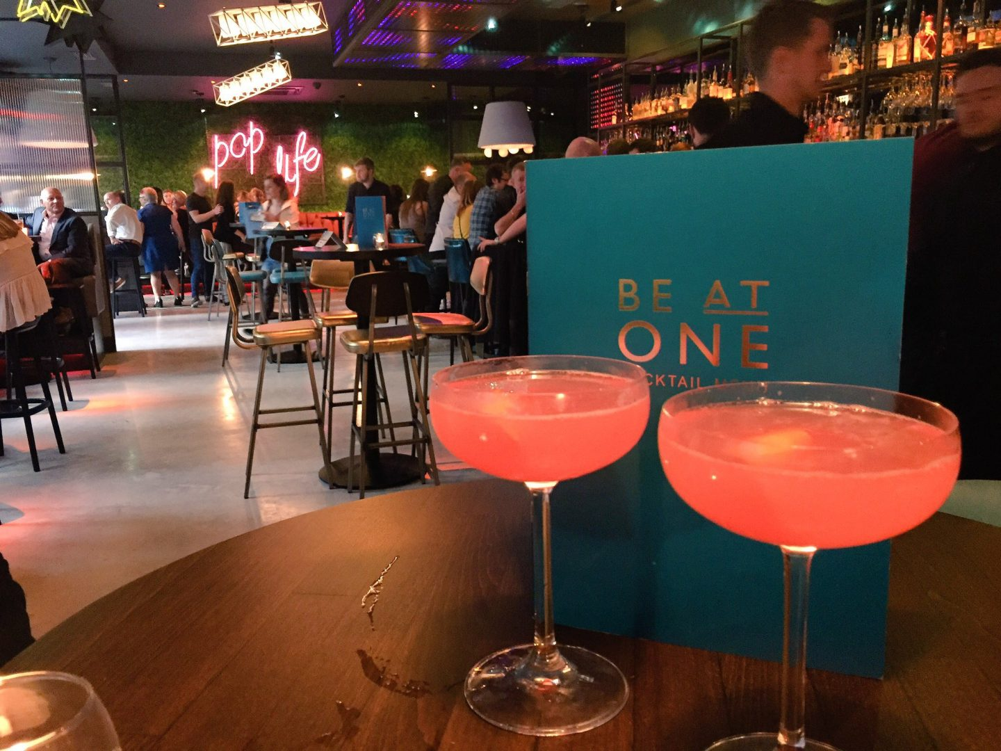 'Be At One' Cocktail Bar.