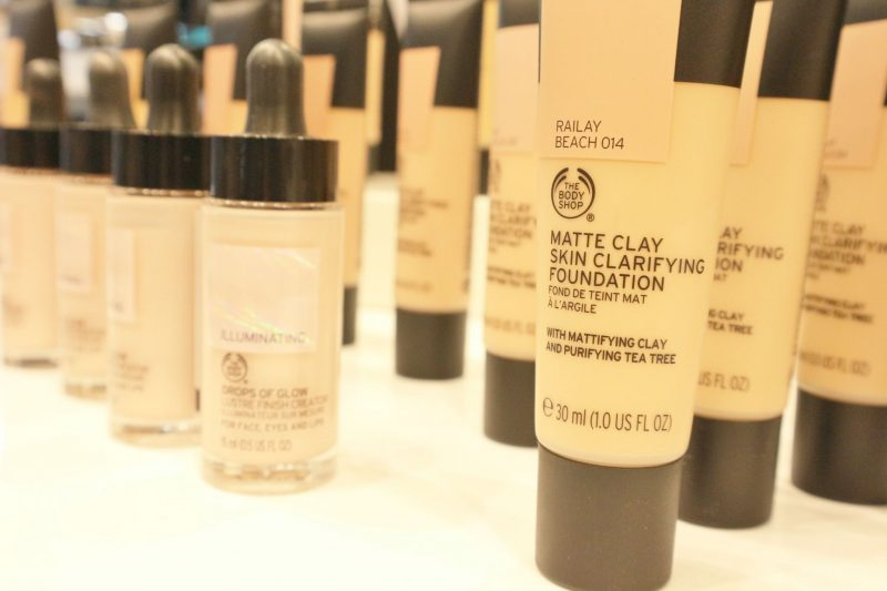 New matte clay foundation from The Body Shop