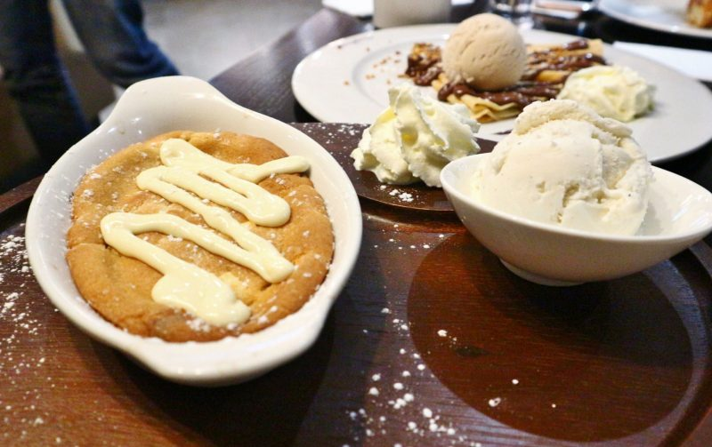 Warm Cookie Dough with Melted White Chocolate,