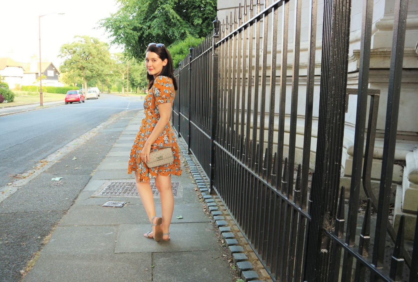 JOY dress. Summer dressing. Floral tea dress. UK Blogger. Fashion Post.