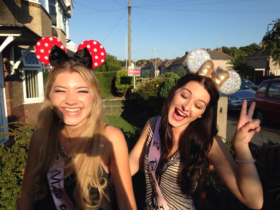 Disney theme Hen Party. Minnie Mouse Ears. Disney Lovers. Wedding Blog. Hen Party Ideas.